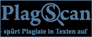 Plagscan Logo mit Link zur Webseite